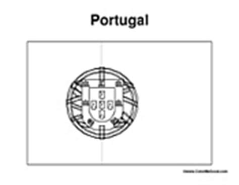 Country State And World Flag Coloring Pages Portugal Flag Coloring Page