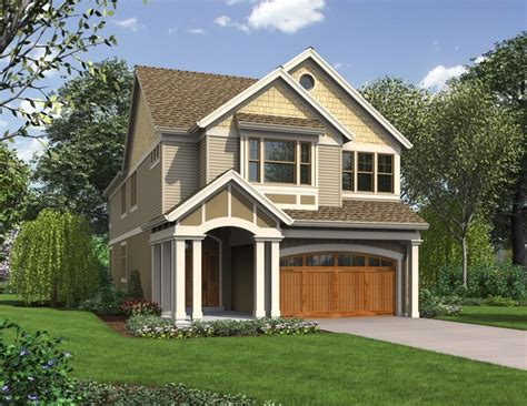 Narrow Lot Cottage Plans by Laurelhurst Home Plan Narrow Lots