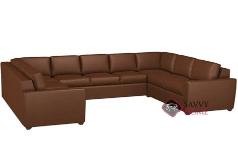 u shaped leather sectional geo leather true sectional by lazar industries is fully