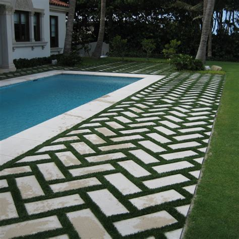 Backyard Ideas With Pavers And Grass Pavers And Grass For Patio Or Driveway Our Temporary
