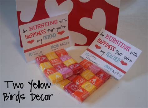 valentines day treats for school two yellow birds decor school s treats