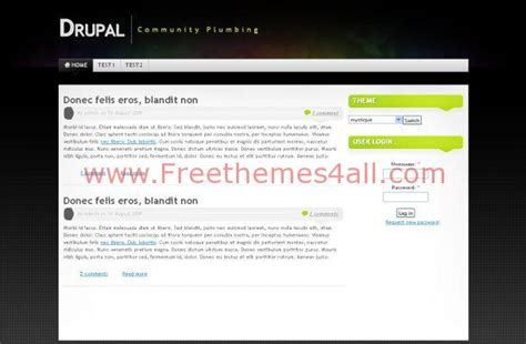 drupal themes with slider free download abstract business black drupal theme download