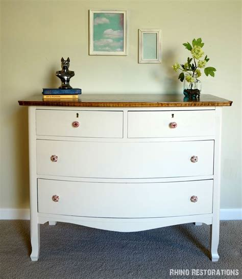 Birds Eye Maple Dresser by Bird S Eye Maple Dresser With Refinished Top Painted The