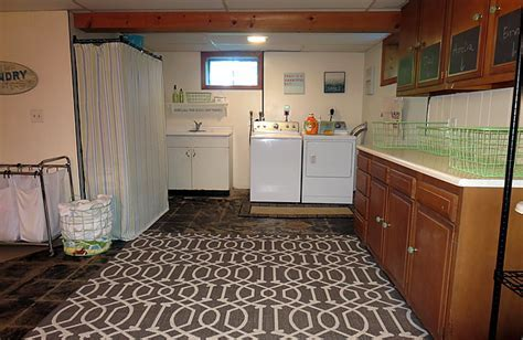Basement Laundry Before and After