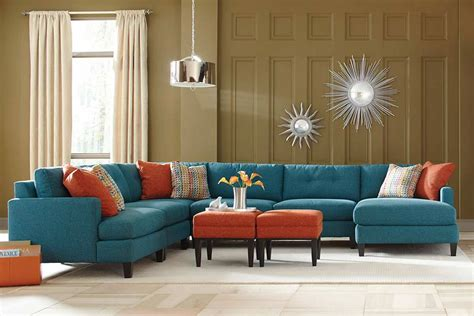 teal coloured sofas teal color custom sectional sofa made in the usa los angeles