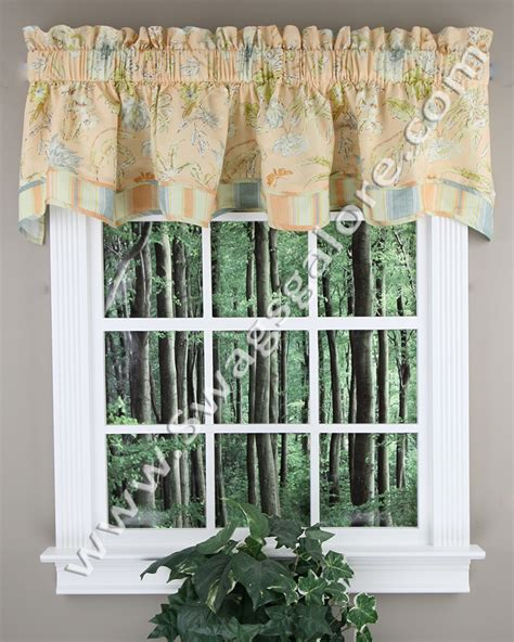 Coral Valance Curtains Cape Coral Fairfield Valance Coral Waverly Kitchen Valances