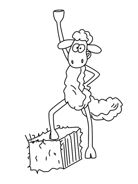 shaun the sheep coloring pages for kids to print for free