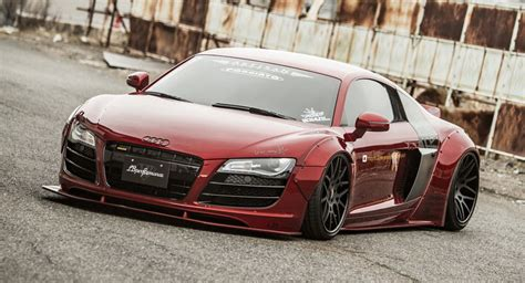Audi R8 First Year by Liberty Walk Dresses Up First Gen Audi R8 Carscoops