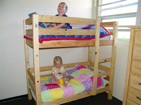 diy bunk bed plans ana white toddler bunk beds diy projects