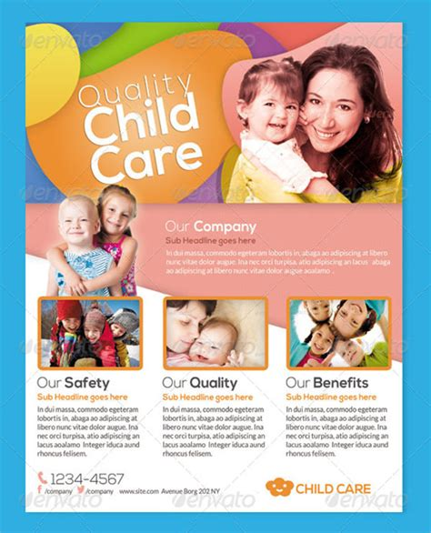 15 Day Care Flyers Sle Templates Free Pediatric Brochure Templates
