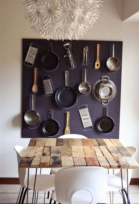 diy kitchen wall decor ideas diy kitchen pegboard a beautiful mess