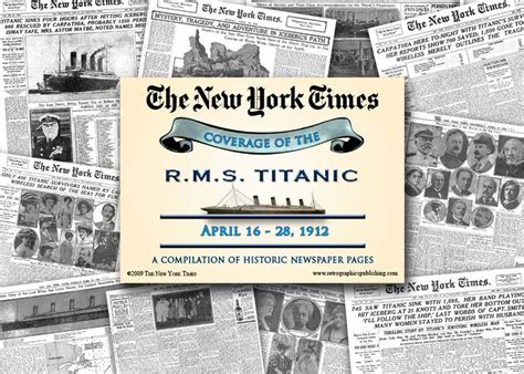 sle of newspaper report titanic memorabilia store buy rms titanic memorabilia and
