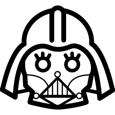 Darth Vader Outline by Darth Vader Frontal Outline Free Cinema Icons