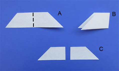 Paper Folding Work - how to make a tangram puzzle