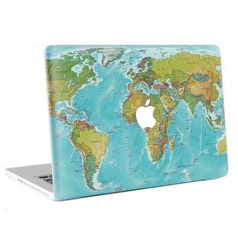 Macbook Aufkleber Weltkarte weltkarte macbook skin aufkleber