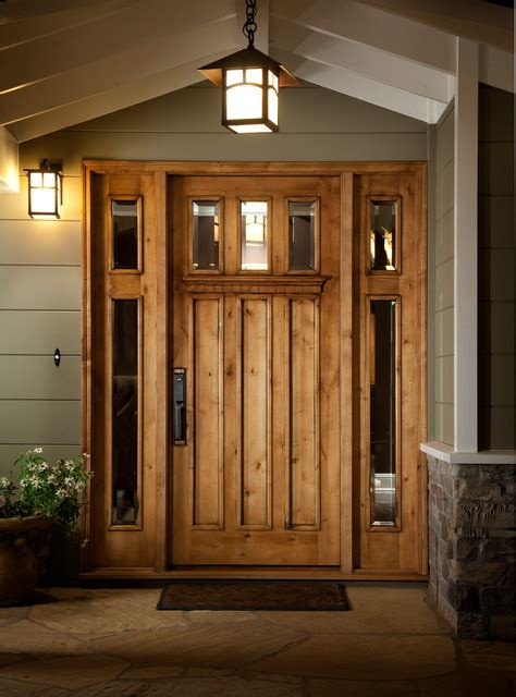 Handcrafted Doors - custom craftsman entry door traditional entry san