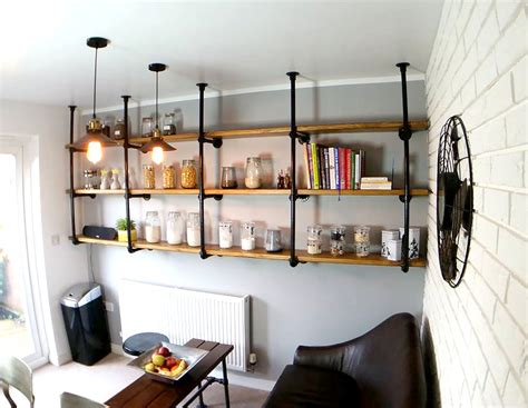 diy kitchens simple industrial shelving inspiration blog
