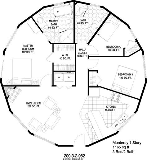 round house floor plan deltec homes monterey 1 story 1165 sq ft this is cool