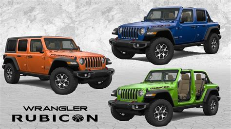 rubicon jeep colors 2017 jeep wrangler color chart motavera com
