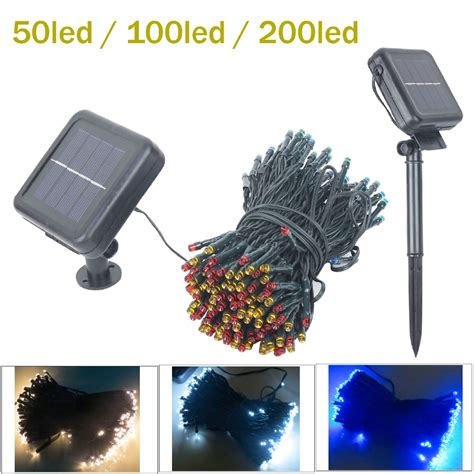 best outdoor battery or solar christmas garland lights solar led string light light garland 50 100 200 led lights with battery outdoor