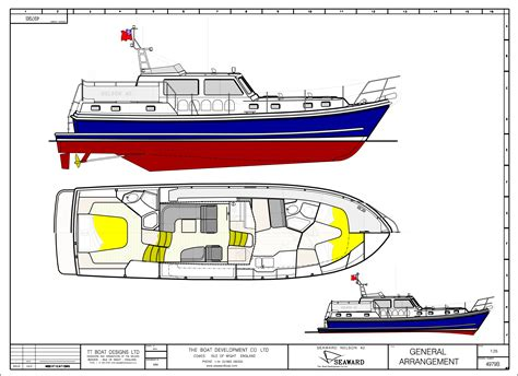 small yacht layout seaward 42 e16 motor yacht launch at the southton boat