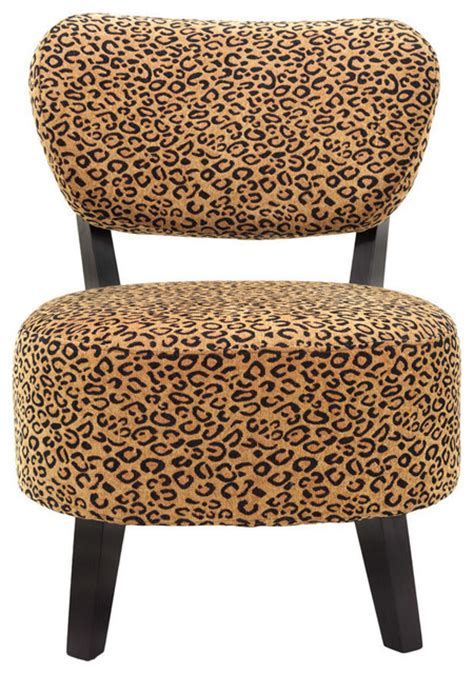 Leopard Accent Chair Leopard Print Accent Chair Contemporary Armchairs And Accent Chairs By Furniture Import