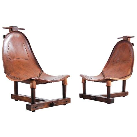 unusual armchairs unusual pair of leather armchairs from 1950 for sale at