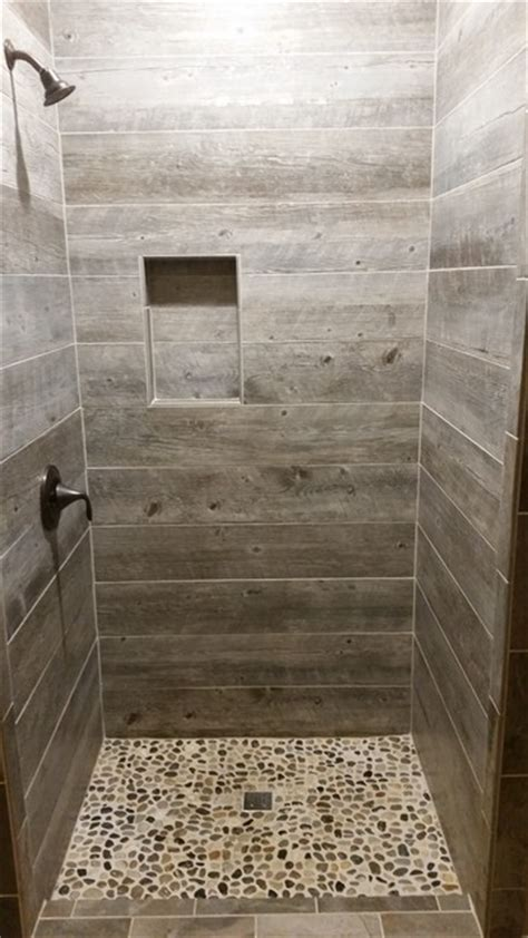rustic tile bathroom barnwood tile shower rustic bathroom