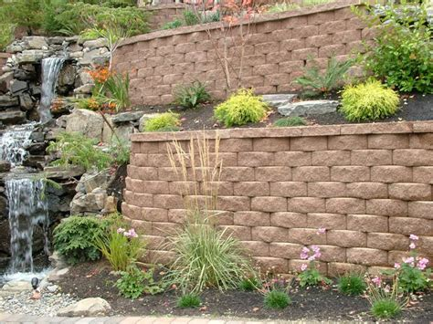 Retaining Wall Planter by Retaining Walls With Planters Home