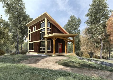 wood cabin plans and designs brookside 844 sq ft from the cabin series of timber