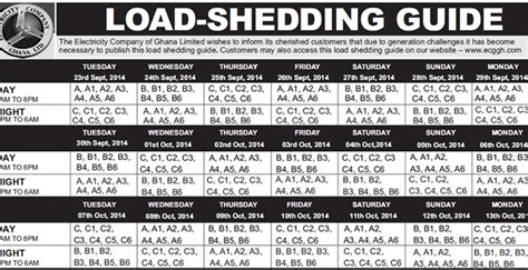 Load Shedding Schedule by Load Shedding To Release New Load