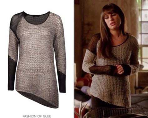 Micell Blouse Grey blouse sweater grey sweater glee berry lea michele wheretoget