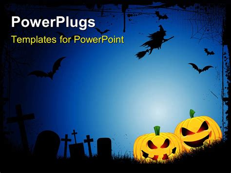 halloween themes powerpoint powerpoint template spooky halloween background with