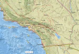 Los Angeles Earthquake Map by Los Angeles Earthquake Map 171 Cbs San Francisco