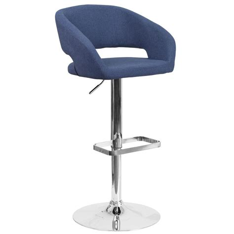 cushioned bar stool flash furniture adjustable height blue cushioned bar stool