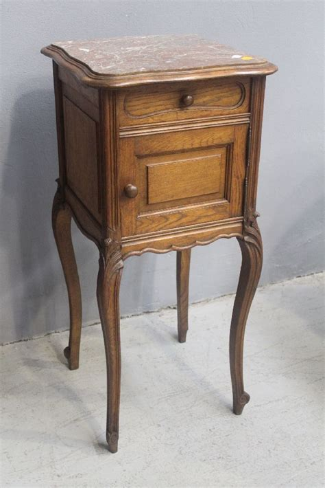 nightstand with marble top antique louis xv style nightstand with marble top