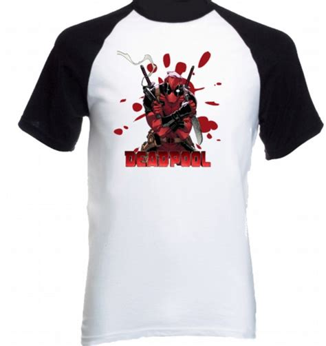 camiseta raglan deadpool 09 no elo7 allsgeek 651103