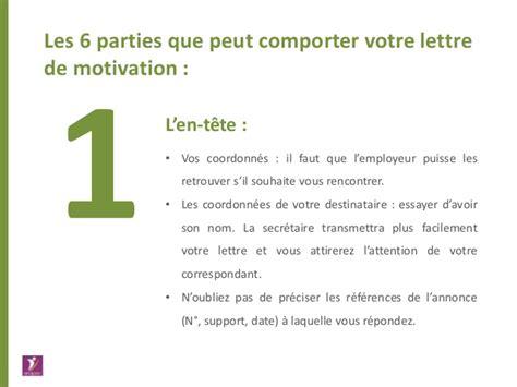 Prã Sentation Lettre De Motivation A La R 233 Diger Le Cv Et La Lettre De Motivation Les R 232 Gles D Or