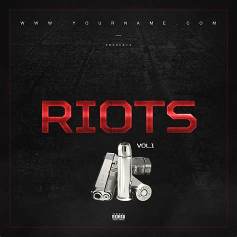 Riots Mixtape Cover Template Vms Mixtape Psd Templates