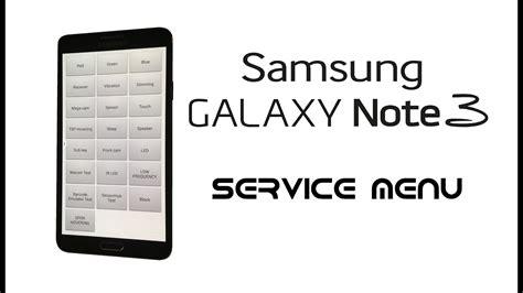 samsung galaxy note 3 neo duos service test diagnostic menu secret codes