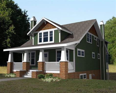 picture small craftsman style bungalow house plans