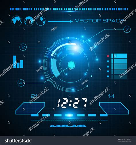 abstract interface pattern abstract blue futuristic interface game science stock