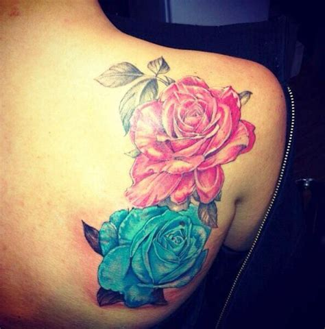 different color rose tattoos colored roses tattoos