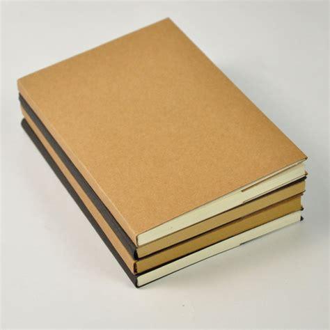 Plain Notebook Lucu blank kraft paper notebook medium buku tulis catatan