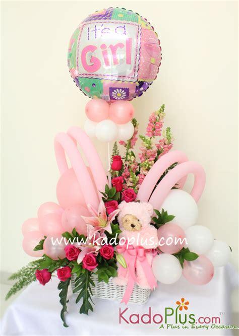 Balon New Baby Keranjang by Rangkaian Balon Bunga Bayi Balloons More 2 Kadoplus