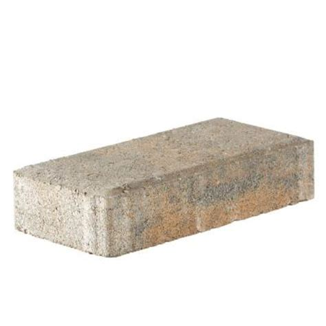 16x16 Patio Pavers Home Depot Pavestone 4 In X 8 In 45 Mm Winterblend Concrete Paver 22087 The Home Depot