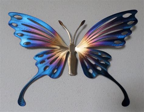 Hand Made Metal Butterfly Wall Art Home Decor Garden Garden Metal Wall Butterfly