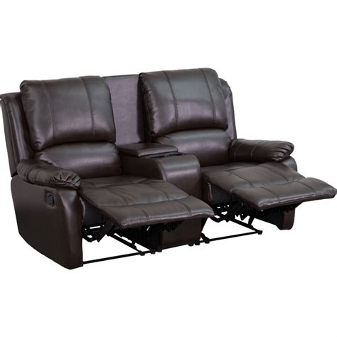 flash furniture brown leather pillowtop  seat home