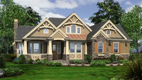 One Story Craftsman Style House Plans Craftsman Bungalow One Story Cottage Style
