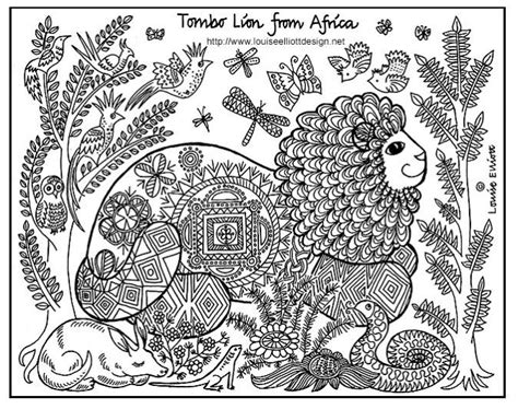 african lion coloring pages free printable african lion art coloring page africa for